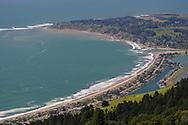 Stinson Beach seen from Bolinas Ridge, Mount Tamalpais State Park, Marin County, California