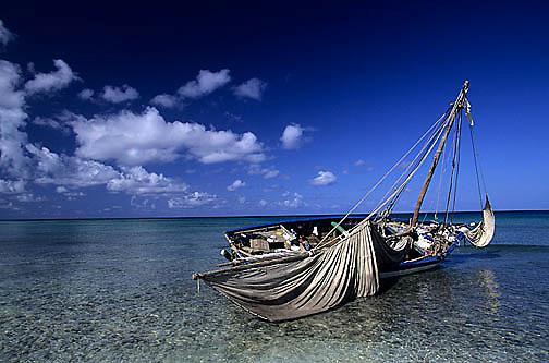 Bahamas, Deserted boat that carried Haitians to Bahamas. Great Inagua Island.