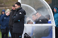 Leeds United staff during the U18 Professional Development League match between Coventry City and Leeds United at Alan Higgins Centre, Coventry, United Kingdom on 13 April 2019.
