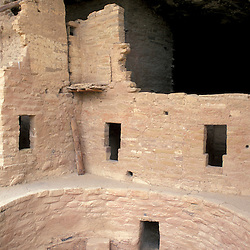 A kiva at Spruce Tree House ruins.  Anasazi.  Ancient Puebloans.  From A.D. 1200 to 1276.Mesa Verde National Park, CO.