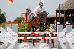 Youngster-Springprfg. Kl. M**, 8j. Pferde, CSN Ehlersdorf 17. - 19.07.2020 - Reitanlage Jörg Naeve, Ogano - Sosath, Hendrik