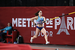 February 7, 2018 - Paris, Ile-de-France, France - Marine Kylypko of Ukraine competes in pole vault during the Athletics Indoor Meeting of Paris 2018, at AccorHotels Arena (Bercy) in Paris, France on February 7, 2018. (Credit Image: © Michel Stoupak/NurPhoto via ZUMA Press)