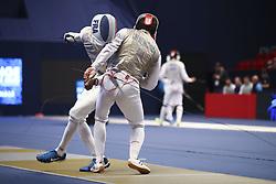 January 13, 2019 - Paris, France - Quarts de finales : Enzo Lefort (FRA) vs Alexey Cheremisinov  (Credit Image: © Panoramic via ZUMA Press)