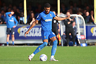 AFC Wimbledon striker Jake Jervis (10) passing the ball during the EFL Sky Bet League 1 match between AFC Wimbledon and Portsmouth at the Cherry Red Records Stadium, Kingston, England on 13 October 2018.
