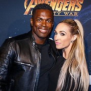 NLD/Amsterdam/20180425 - Première The Avengers: Infinity War, Remy Bonjasky en partner Renate Goet