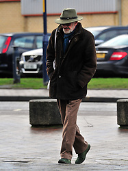 © Licensed to London News Pictures.22/01/2018<br /> Maidstone, UK.<br /> John McEnery arriving at court today.<br /> Bafta nominated actor John McEnery appearing at Maidstone Crown Court charged with possessing an imitation firearm with intent to cause fear and violence at the Leading Light Pub, Faversham.<br /> Photo credit: Grant Falvey/LNP