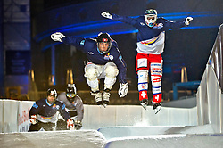 03-02-2012 SKATING: RED BULL CRASHED ICE WORLD CHAMPIONSHIP: VALKENBURG<br /> (L) Jim de Paoli SUI during a training session<br /> ©2012-FotoHoogendoorn.nl/Peter Schalk