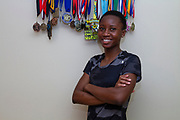 """Trude Lamb<br /> Location: Tyler, TX<br /> 9/9/20<br /> <br /> Trude Lamb wrote to her high school over the summer that she will no longer compete as a cross country athlete wearing the school's current uniform- which includes the name """"Lee"""", as in Robert E. Lee.<br /> <br /> Credit: Jaime Carrero for ESPN"""