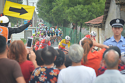 September 20, 2017 - Changde, China - Kevin Rivera Serrano and his team-mates of Androni Sidermec Bottecchia Team lead the peloton during the second stage of the 2017 Tour of China 2, the 97.6km Changde Lixiang Circuit Race. .On Wednesday, 20 September 2017, in Lixian County, Changde City, Hunan Province, China. (Credit Image: © Artur Widak/NurPhoto via ZUMA Press)