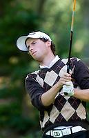 DEN DOLDER - Reinier Saxton tijdens het NK Strokeplay golf op Golfsocieteit  De Lage Vuursche. COPYRIGHT KOEN SUYK