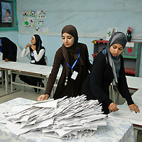 Tunis, Tunisia 23 October 2011<br /> Tunisian election staff open the ballots in a polling station of Tunis, after the ending of the election day.<br /> Following the invitation from the Tunisia interim government, the European Union established an Election Observation Mission to monitor the upcoming elections for a Constituent Assembly scheduled on October 23rd 2011. <br /> Photo: Ezequiel Scagnetti © European Union