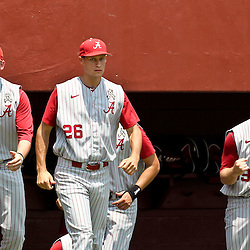 June 03, 2011; Tallahassee, FL, USA;  Alabama Crimson Tide player react from the bench following a play at the plate to end the second inning during the 2011 Tallahassee Regional at Dick Howser Stadium. Alabama defeated UCF 5-3.  Mandatory Credit: Derick E. Hingle