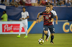 July 19, 2017 - Philadelphia, Pennsylvania, U.S - United States of America midfielder PAUL ARRIOLA (20) dribbles the ball upfield during CONCACAF Gold Cup quarterfinal 2017 action at Lincoln Financial Field in Philadelphia, PA.  USA  defeats El Salvador 2 to 0. (Credit Image: © Mark Smith via ZUMA Wire)