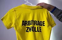 ZWOLLE - Arbitrage, shirt HC Zwolle, Fusieclub (ZMHC en Tempo'41 fuseren naar Hockeyclub Zwolle) in 2012. COPYRIGHT KOEN SUYK