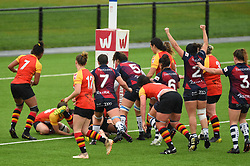 Row Marston of Bristol Bears Women scores a try against Richmond Women - Mandatory by-line: Paul Knight/JMP - 26/10/2019 - RUGBY - Shaftesbury Park - Bristol, England - Bristol Bears Women v Richmond Women - Tyrrells Premier 15s