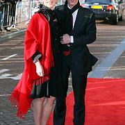 NLD/Amsterdam/20080201 - Verjaardagsfeest Koninging Beatrix en prinses Margriet, Ronald Plasterk en partner Els