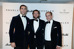 British fine jewellery brand Boodles welcomed guests for the 2013 Boodles Boxing Ball in aid of Starlight Children's Foundation held at the Grosvenor House Hotel, Park Lane, London on 21st September 2013.<br /> Picture Shows:-Left to right, HUGH VAN CUTSEM, JEZ LAWSON and JAMES AMOS.<br /> <br /> Press release - https://www.dropbox.com/s/a3pygc5img14bxk/BBB_2013_press_release.pdf<br /> <br /> For Quotes  on the event call James Amos on 07747 615 003 or email jamesamos@boodles.com. For all other press enquiries please contact luciaroberts@boodles.com (0788 038 3003)