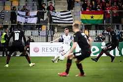 Zan Karnicnik of NS Mura during football match between NS Mura and Rennes (FRA) in group stage of UEFA Europa Conference League 2021/22, on 20 of October, 2021 in Ljudski Vrt, Maribor, Slovenia. Photo by Blaž Weindorfer / Sportida
