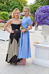 Left to right, CHARLOTTE DELLAL and LAURA BAILEY at The Ralph Lauren & Vogue Wimbledon Summer Cocktail Party at The Orangery, Kensington Palace, London on 22nd June 2015.  The event is to celebrate ten years of Ralph Lauren as official outfitter to the Championships, Wimbledon.