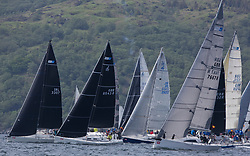 Sailing - SCOTLAND  - 27th May 2018<br /> <br /> 3rd days racing the Scottish Series 2018, organised by the  Clyde Cruising Club, with racing on Loch Fyne from 25th-28th May 2018<br /> <br /> <br /> RC35, Start, IRL3307, Jacob VII, John Stamp, Port Edgar, Corby 33, GBR8543R, Jings, Robin Young, CCC, J109, GBR7667R, Now or Never 3, Neil Sandford, Fairlie YC, Mat 1010<br /> <br /> Credit : Marc Turner<br /> <br /> Event is supported by Helly Hansen, Luddon, Silvers Marine, Tunnocks, Hempel and Argyll & Bute Council along with Bowmore, The Botanist and The Botanist