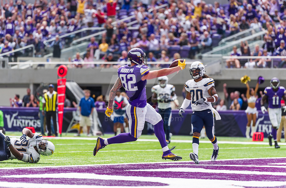 Minnesota Vikings vs. San Diego Chargers on August 28, 2016 at U.S. Bank Stadium in Minneapolis, Minnesota.  Photo by Ben Krause/Minnesota Vikings