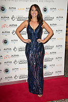 Hayley Sparks on the red carpet for the Lifestyle Awards 2021, at the Landmark Hotel Marylebone, London.
