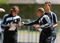 Fotball<br /> Real Madrid på treningsleir i Irland<br /> 17.07.2009<br /> Foto: Gepa/Digitalsport<br /> NORWAY ONLY<br /> <br /> Bild zeigt Gabriel Heinze, Cristiano Ronaldo und Pepe (Madrid/ vorne)