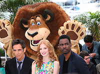 at the Madagascar 3: Europe's Most Wanted photocall at the 65th Cannes Film Festival. Friday 18th May 2012 in Cannes Film Festival, France.