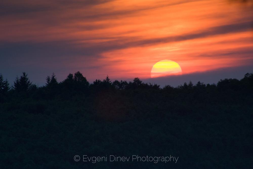 Beautiful sunset in the mountain