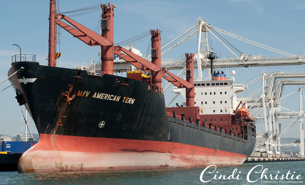 The M/V American Tern cargo ship calls on the Port of Oakland in Oakland, Calif.,  on Saturday, Sept. 17, 2011.  (© 2011 Cindi Christie/Cyanpixel Photography)