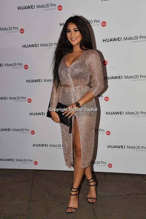 Sallyha Din attend Huawei - VIP celebration at One Marylebone London, UK. 16 October 2018.
