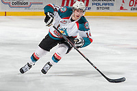 KELOWNA, CANADA - MARCH 8: Rourke Chartier #14 of the Kelowna Rockets skates against the Tri-City Americans on March 8, 2014 at Prospera Place in Kelowna, British Columbia, Canada.   (Photo by Marissa Baecker/Getty Images)  *** Local Caption *** Rourke Chartier;