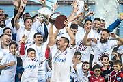 20191215/ Javier Calvelo - adhocFOTOS/ URUGUAY/ MONTEVIDEO/ CAMPEONATO URUGUAYO 2019/ Peñarol enfrenta a Nacional en el Estadio Centenario por la final del Torneo Uruguayo 2019 si gana Nacional es campeón por ser ganador de la tabla anual y si gana Pe{rol se huegan dos finales más.. <br /> En la foto: Nacional campeón Uruguayo 2019 en el estadio Centenario. Foto: Javier Calvelo/ adhocFOTOS