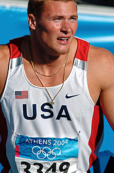 Paul Terek USA in action during Olympics Games Athletics day 12 on August 24, 2004 in Olympic Stadion Spyridon Louis, Athens.