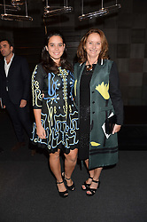 Left to right, TIFFANY ZABLUDOWICZ and ANITA ZABLUDOWICZ at the PAD London 10th Anniversary Collector's Preview, Berkeley Square, London on 3rd October 2016.