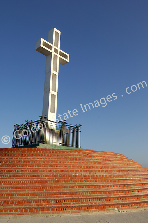 Erected in 1954. In recent years has been the subject of continuous controversy as various atheist groups have tried to have it removed. Their argument is that a religious symbol should not be allowed on public land.