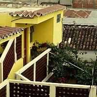 Central America, Guatemala, Antigua. Modest accommodations amongst the residences of Antigua.