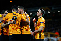 Football - 2019 / 2020 UEFA Europa League - Round of Thirty-Two, First Leg: Wolverhampton Wanderers vs. Espanyol<br /> <br /> Diogo Jota of Wolverhampton Wanderers celebrates at Molineux.<br /> <br /> COLORSPORT/LYNNE CAMERON