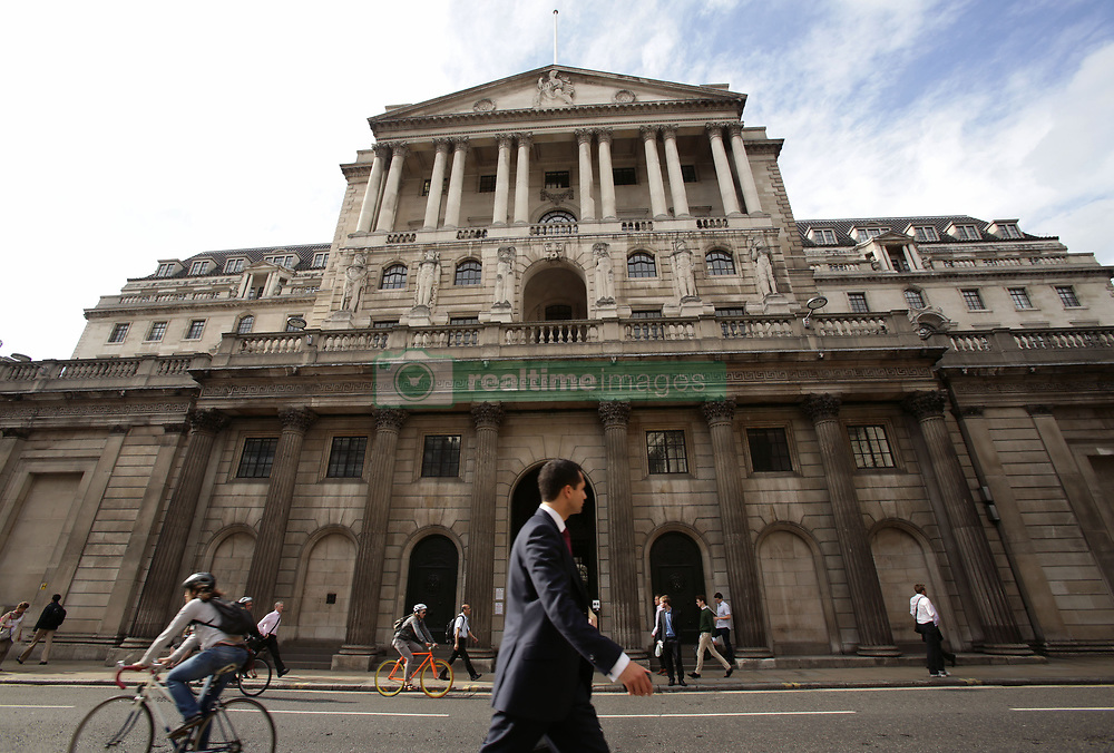 File photo dated 11/08/14 of the Bank of England in London, as the British economy grew at its slowest pace in five years in the first quarter, raising further doubt over the Bank's interest rate hike next month.