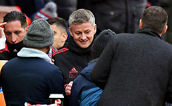 Manchester United interim manager Ole Gunnar Solskjaer before the match