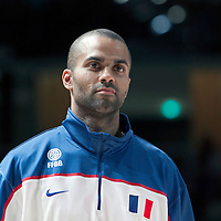 27 August 2011: Tony Parker is seen during the friendly game won 74-44 by France over Belgium, in Lievin, France.
