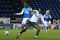 Siriki Dembele of Peterborough United in action against Plymouth Argyle - Mandatory by-line: Joe Dent/JMP - 24/11/2020 - FOOTBALL - Weston Homes Stadium - Peterborough, England - Peterborough United v Plymouth Argyle - Sky Bet League One
