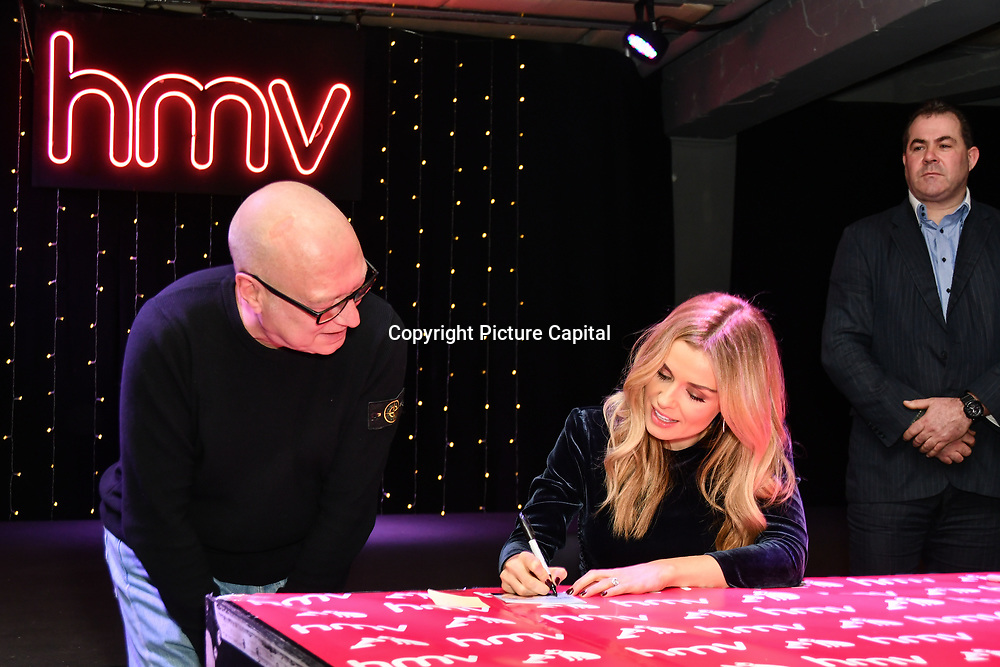 Katherine Jenkins signing autography at hmv Oxford Street, 5th December 2018, London, UK