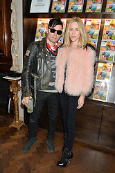 ROBBIE FURZE and LADY MARY FURZE at the launch of 'Certified Indigenous' with Assouline and The Luxury Collection held at Maison Assouline, Piccadilly, London on 13th May 2015.