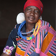 Venda woma in traditional dress. Hamakuya. Venda village in Limpopo Province, South Africa.