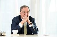 27 NOV 2020, BERLIN/GERMANY:<br /> Armin Laschet, CDU, Ministerpraesident Nordrhein-Westfalen, waehrend einem Interview, Landesvertretung Nordrhein-Westfalen<br /> IMAGE: 20201127-01-027
