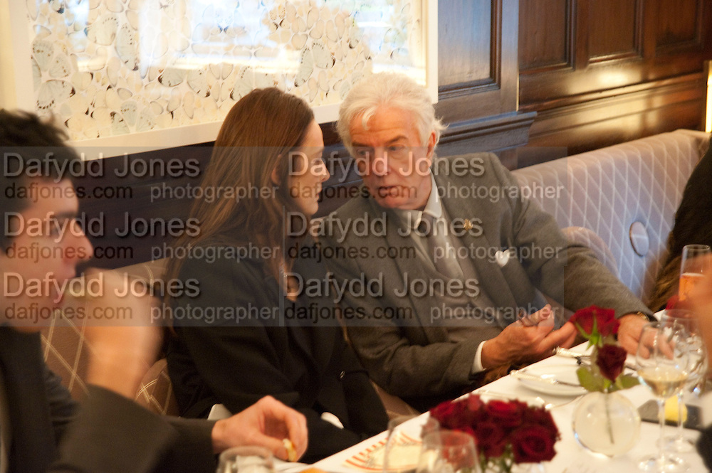 CATHERINE BAILEY; NICKY HASLAM, Graydon and Anna Carter host a lunch for Carolina Herrera to celebrate the ipening of her new shop on Mount St. .The Connaught. London. 20 January 2010