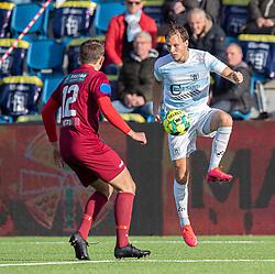Frederik Bay (FC Helsingør) under kampen i 1. Division mellem FC Helsingør og Skive IK den 18. oktober 2020 på Helsingør Stadion (Foto: Claus Birch).