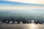 Nederland, Friesland, Het Bildt, gemeente Waadhoeke, 04-11-2018; Noord-Friesland Buitendijks, kweldergebied Noorderleeg, waddenkust en landaanwinning. Noarderleech, onderdeel van Noard-Fryslân Bûtendyks.<br /> Frisian coast, salt marsh and mudflat area with land reclamation.<br /> luchtfoto (toeslag op standaard tarieven);<br /> aerial photo (additional fee required);<br /> copyright © foto/photo Siebe Swart