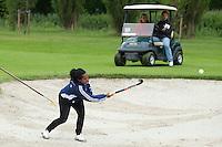 DEN HAAD - Site Event World Cup Hockey . Ex International Maartje Scheepstra tijdens NK Hockeygolf op de Rijswijkse Golfclub  FOTO KOEN SUYK